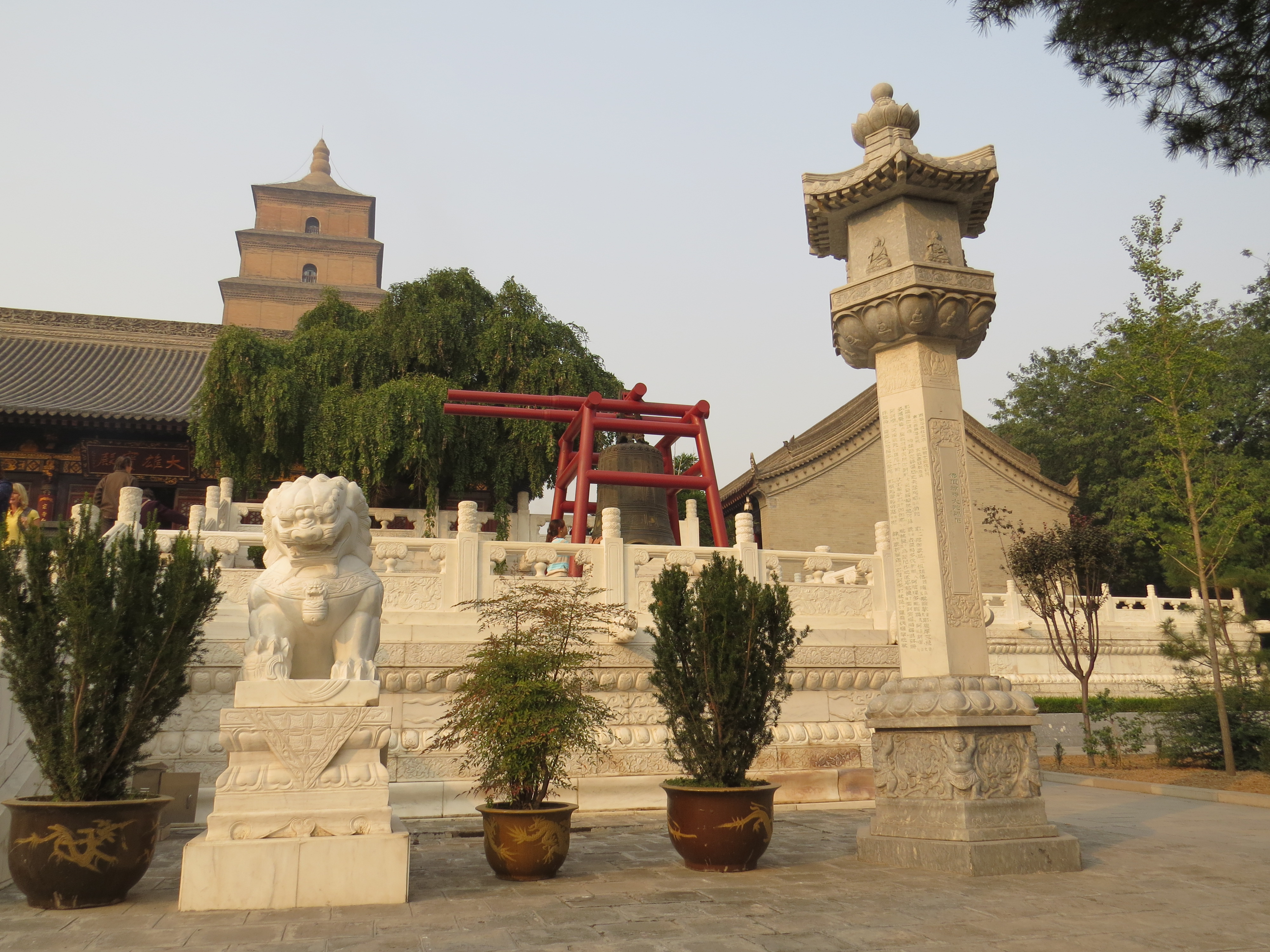 great wild goose pagoda of the ci en temple chang an china